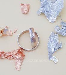 Rose gold és fehérarany karikagyűrű-köves