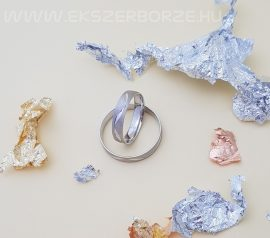 Hullámos fehérarany karikagyűrű