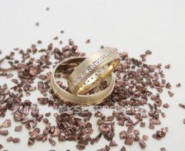Selyemfényű és fényes sárga arany karikagyűrű