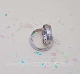 Körben köves fehérarany karikagyűrű