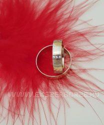 Sárga arany karikagyűrű-köves