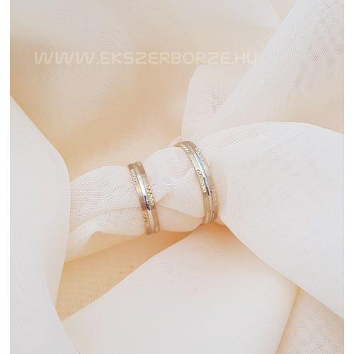 Sárga és fehérarany karikagyűrű
