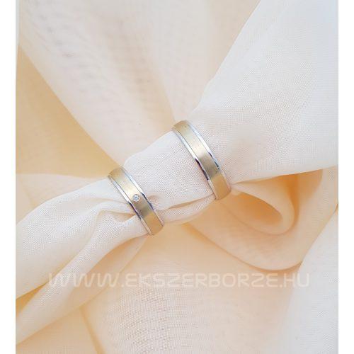 Fehér-sárga arany karikagyűrű