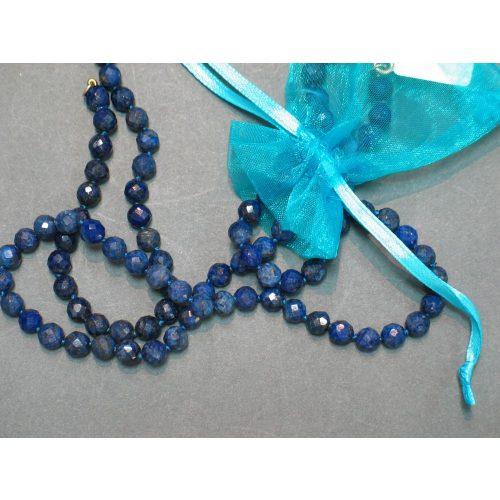 Fazettált Lápisz Lazuli karlánc