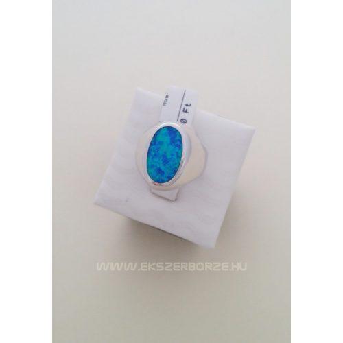 Kékopál köves ezüst gyűrű