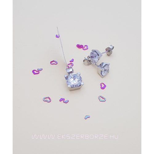 Különleges csillogó ezüst ékszer szett