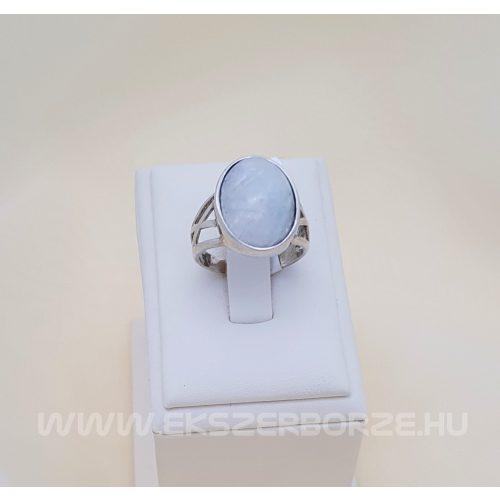Természetes köves ezüst gyűrű