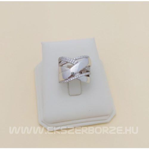 Széles női ezüst gyűrű kövekkel