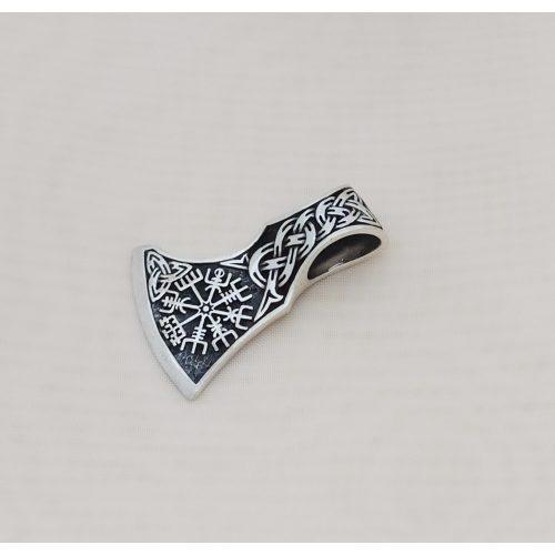 Fejsze alakú antikolt ezüst medál