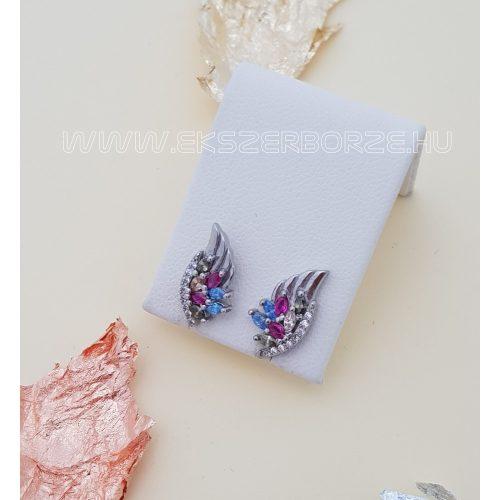 Angyalszárny alakú ezüst fülbevaló
