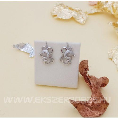 Egérkés ezüst fülbevaló